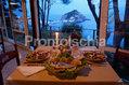 Hotel Lumihe - Le prelibatezze nella sala ristorante panoramica