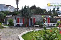 I giardini dell'hotel e l'esterno delle camere.