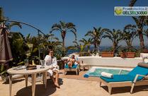Terrazza privata di circa 60 mq con vasca jacuzzi Suite Poseidone.