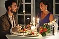 Cena a lume di candela.